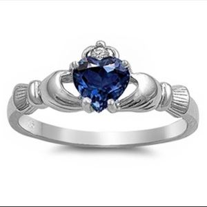 Sterling silver 925 heart claddagh ring